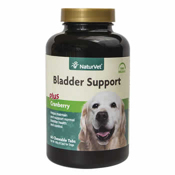Bladder support for dogs