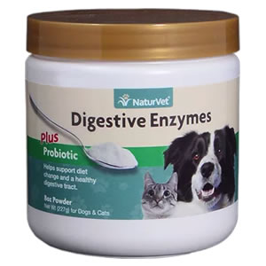 Naturvet Digestive Enzymes Amp Probiotics For Dogs Amp Cats