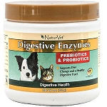 Digestive Enzymes & Probiotics for Dogs & Cats - by Naturvet - 8 oz.