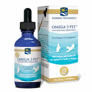 Nordic naturals omega 3 pet fish oil for cats small for Fish oil capsules for dogs