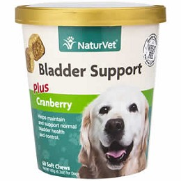 Bladder Support Soft Chews for Dogs - 60 ct. - NaturVet