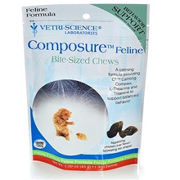 Composure Feline - 30 Chews - Calming Aid for Cats