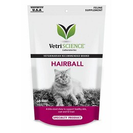 Hairball Chews - Hairball Remedy for Cats by Vetri-Science - 60 chews