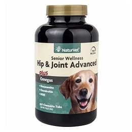 Hip and Joint Advanced by NaturVet - 90 tablets - Senior Wellness