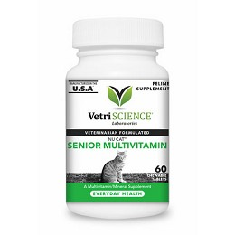 Nu-Cat Senior Multivitamin Mineral Supplement for Cats - 60 tablets