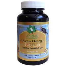 Animal Essentials Ocean Omega Gold Fish Oil - 180 ct. - Dogs & Cats