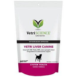 Vetri-Liver Canine Chews for Dogs - 60 ct. - Milk Thistle