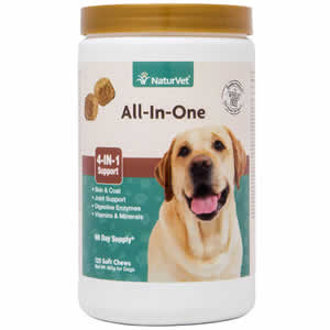 NaturVet All-in-One Vitamin Soft Chews for Dogs - 120 ct