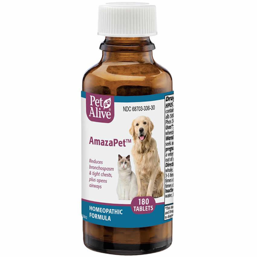 PetAlive AmazaPet  - 180 ct. - Asthma Remedy for Cats & Dogs