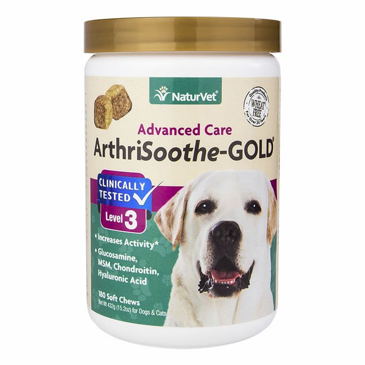 NaturVet Arthrisoothe Gold Level 3 Soft Chews - 180 ct.