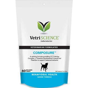 VetriScience Composure for Dogs - 60 Chews - Natural Calming Aid