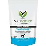 VetriScience Composure Mini for Small Dogs - 30 Chews - Calming Aid