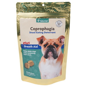NaturVet Coprophagia Deterrent Soft Chews  90ct - Stops Dogs from Eating Poop