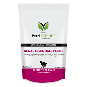 VetriScience Renal Essentials Chews for Cats - 120 ct.