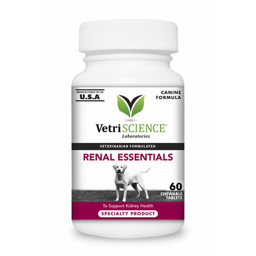 VetriScience Renal Essentials for Dogs - 60 tablets - Kidney Support
