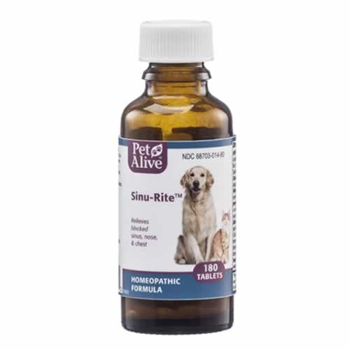 PetAlive Sinu-Rite - 180 ct - For Sinus Infections in Dogs, Cats