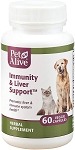 PetAlive Immunity and Liver Support for Dogs and Cats - 60 ct.