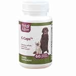 PetAlive C-Caps - 60 ct. - Immune Support for Dogs and Cats