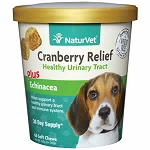 NaturVet Cranberry Relief Soft Chews for Dogs- 60 ct. - Urinary Support