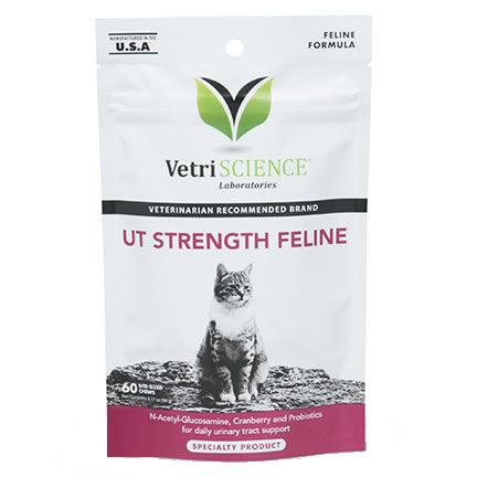 VetriScience UT Strength Feline Chews  - 60 ct. - Urinary Support for Cats