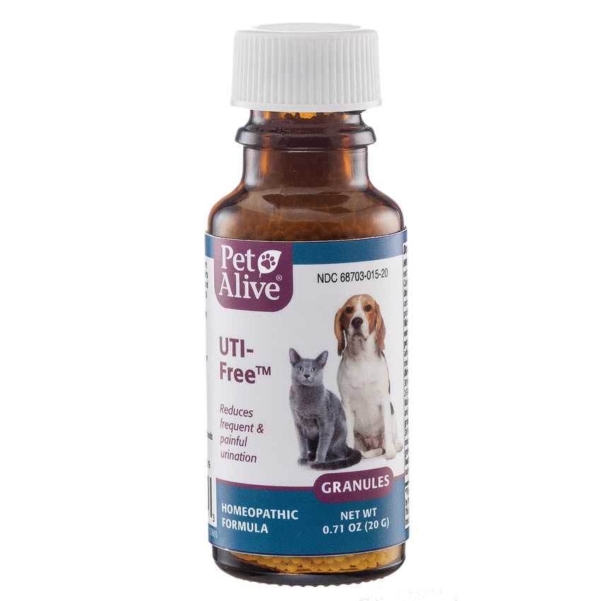 PetAlive UTI-Free for Urinary Infections in Cats Dogs - 20 gr