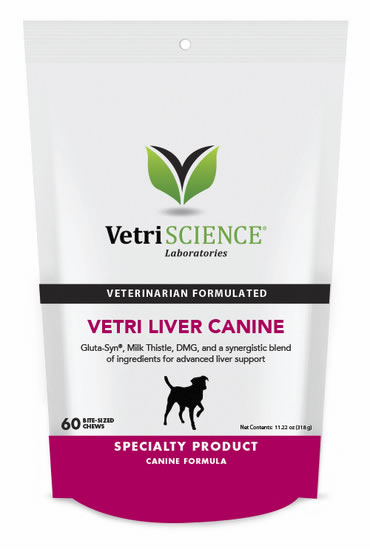 VetriScience Vetri-Liver Canine Chews - 60 ct. - Liver Support for Dogs