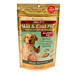 Naturvet Aller-911 Skin and Coat Powder for Dogs & Cats