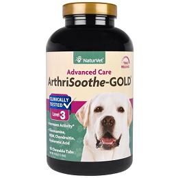 NaturVet Arthrisoothe Gold for Dogs  - 90 Tabs