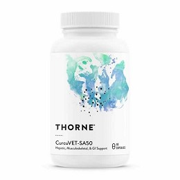 Thorne Research CurcuVET-SA50 - Curcumin Turmeric for cats & small dogs - 90 ct.