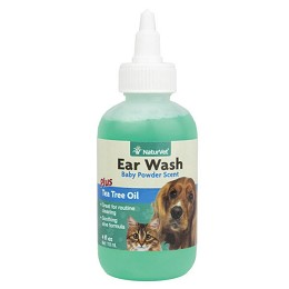 NaturVet Ear Wash - 4 oz. - Cleans Dog and Cat Ears