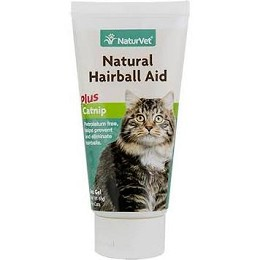 NaturVet Hairball Aid  with Catnip - 3 oz. Gel - Prevents Hairballs in Cats