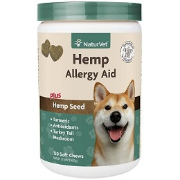 NaturVet Hemp Allergy Aid for Dogs - 120 soft chews