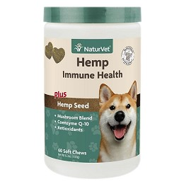 NaturVet Hemp Immune Health for Dogs - 120 soft chews