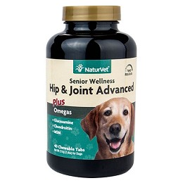 NaturVet Hip and Joint Advanced for Dogs - 40 ct. - Senior Wellness