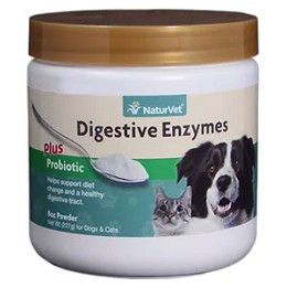 NaturVet Digestive Enzymes & Probiotics for Dogs & Cats  - 8 oz. - powder
