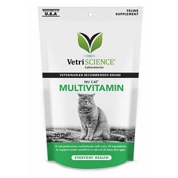 Nu-Cat Multivitamin for Cats - 30 chews - Short Expiration Date