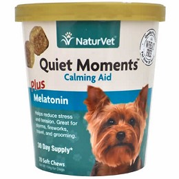 NaturVet Quiet Moments plus Melatonin Soft Chews for Dogs - 70 ct - Calming