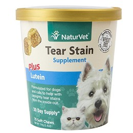 NaturVet Tear Stain Plus Lutein Soft Chews - 70 ct